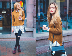 Anna Pogribnyak - Zaful Sweater, Oasap Shirt Dress, Style Moi Jeans, Gor Boots - Dream winter boots are made in Ukraine