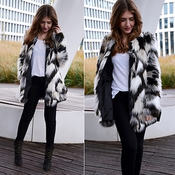Sylwia Gocajna - New Look Top, F&F Fake Fur, H&M Pants, Zara Boots - Just Give Me A Reason