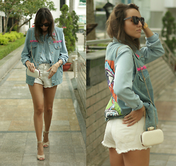Ksenia Radi - Aldo Sunglasses, Massimo Dutti Denim Shirt, Zara Shirts, Mango Shoes - Coz I Live in Summer