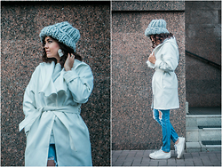 Katerina Lozovaya - Sheinside Coat, Calzedonia Jeans, H&M Hat, Asos Sneakers - Why not?