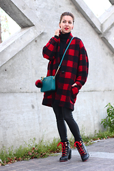 Beauty Mark Lady - Isabel Marant Coat, Aldo Shoes, Michael Kors Bag - Oversized clothes in 2015