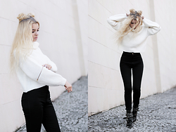 Krist Elle - Oasap White Knitted Crop Sweater - Knit sweater