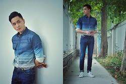 Chris Su - Urban Renewal Shirt, Zara Jeans - The Season Is Changing