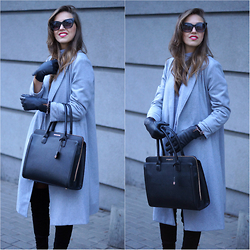 Natalia Przała - Sheinside Grey Coat - Long grey coat