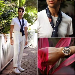 Filippo Fiora - Valentino Scarf, Dior Homme Sunglasses, Church's Sneakers, Audemars Piguet Watch - WILDEST DREAM