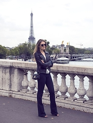 Jenelle Witty - Furla Metropolis, H&M Moto Jacket - PARIS NEVER GETS OLD