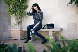 Amy Roiland - Paige Denim Jeans, Zara Boots - Lost in Thought