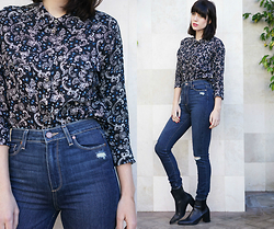 Amy Roiland - Paige Denim Jeans, Paige Denim Top, Zara Boots - Feeling it //