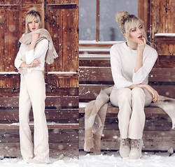 Ebba Zingmark - Bogner Sweater, Halluber Pants, Bogner Scarf, Timberland Shoes, More Pics Here: - WHITE COVERS
