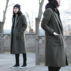 Mark Patrielle Bueno - Forever 21 Olive Wool Jacket - Olivier