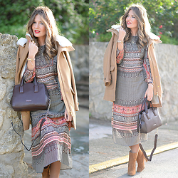 Helena Cueva - Zara Dress, Mango Coat, Abbacino Handbag, Zara Booties - Best Friends