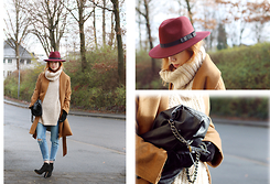 Patty . - Asos Hat, H&M Coat, Mango Bag - RIPPED AND HIGH