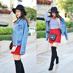 Nicoleta Buru - Forever 21 Boots, Zara Skirt, Daniel Wellington Watch - Over-the-knee