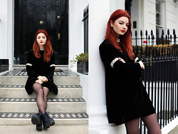 Hannah Louise - Urban Outfitters Black Velvet Dress - Black Velvet Dress