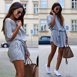 OFFICIAL DRESSED - Shein.Com, Superga, Michael Kors - The grey dress