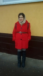 Kateryna Ahiienko -  - Red coat