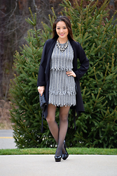 Kimberly Kong - Lorraine Tyne Necklace, Sosie Coat, Asos Dress, Charlotte Russe Clutch, Hanes Tights - How-To Slay At Holiday Parties This Season