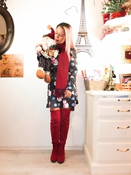 Candy Escandon - Cndirect A Line Dress, Choies High Knee Boots - FROSTY THE SNOWMAN