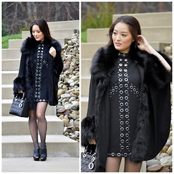 Kimberly Kong - Asos Cape, Asos Dress, Hanes Tights, Christian Dior Bag, Aldo Shoes - All About Asos