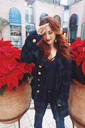 Erin Ashley Goldman - Vintage Plaid Coat, American Apparel Racerback Tank Top, Wellbinder Jeans - A Beverly Hills Christmas