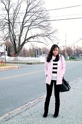 Jeanne Khe - Forever 21 Pink Oversized Blazer, H&M Black Boots - Autumnatically InLove