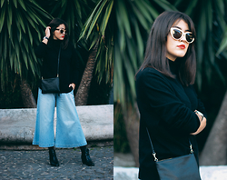 Maria Galvão de Sousa - Zara Sunglasses, Daniel Wellington Watch, Burberry Sweater, H&M Bag, Bershka Jeans, Asos Shoes - FACE IT