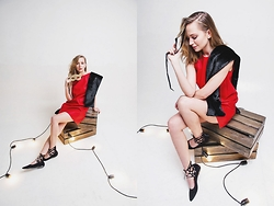 Dasha Shcerbakova - Jana Segetti Dress, H&M Shoes - RED DRESS