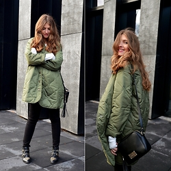 Sylwia Gocajna - Frontrowshop Jacket, H&M Pants, Stradivarius Shoes, Paulina Schaedel Bag - You Got Green On Your Mind