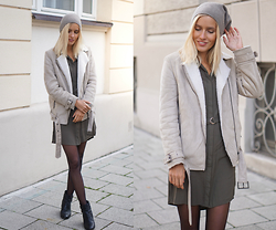 Janine - H&M Jacket, New Look Dress - How to wear a dress in winter