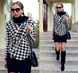 Sandra Kozłowska - Cndirect Cdirect Coat - Houndstooth
