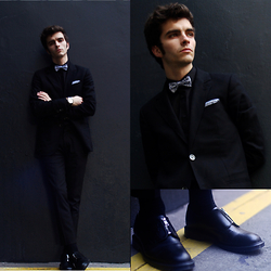 "Matthias C. - Black Jacket, Asos Pants, Ikks Shirt, Asos Shoes Made In England, Festina Watch, Asos Leo Bow Tie - ""Chaos"""