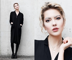 Ebba Zingmark - Sofie By Jewellery, Jane Koenig Necklace, Young Hungry Free Coat/Dress, Urban Outfitters Shoes - New Year Eve