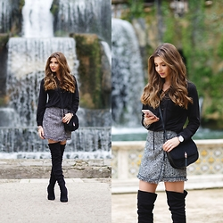Larisa Costea - Shein Skirt, Romwe Blouse, Jessica Buurman Over The Knee Boots, Shein Bag - Tivoli fountains
