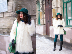 Helena Ivanova - Helen Iv Shop Fur Coat, Helen Iv Shop Hat, Karen Millen Boots - Cozy start of 2016 !
