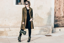 Jessica G - Forever 21 Trench Coat, Isabel Marant Boots, Chanel Bag - Lacet Noir // About-a-Girl.com