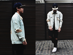 Ronwell Lim - Royalty Ripped Denim Jacket, H&M Ripped Jeans - Ripped