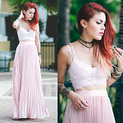 Lua P - Maxi Pleated Skirt - Pastel dreaming.