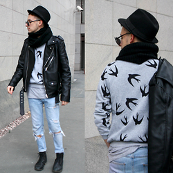 StreetFashion101 - Zara Jacket, Zara Jeans, Pull & Bear Boots, Dresslink Sweater - Fly Away