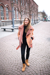 Sanna - Acne Studios Jacket, Timberland Boots - It's cold out there