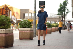Kara C - Cotton On Denim Dress, Dr. Martens Boots - Muriel