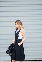 Anna Schowe - Chaser Tank, French Connection Uk Dress - B&W