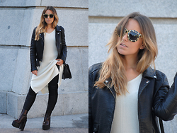 Claudia Villanueva - Pull & Bear Sunglasses, Zara Jacket, Choies Dress, Mango Bag, Zara Pants, Public Desire Boots - Double Leather