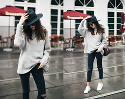Bea G - Sweater, Jeans, Hat, Shoes, Bag - Rainy Days