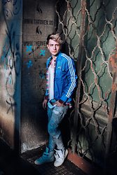 Alexandru - Adidas Blue Jacket, Smuggler Sneakers - Sunny winter