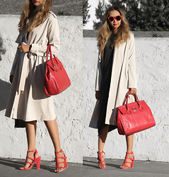 Queen Horsfall - Sheinside Trench Coat, Queenhorsfall Giveaway - *Win $400 Bag from Nuciano