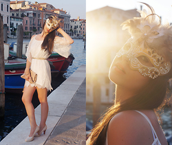Sarah K. - New Look White Dress, Asos Nude Clutch - See you in Venice …