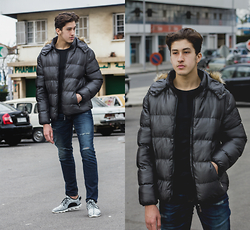 Hicham Ken - Lightinthebox Indoor Court Men's Shoes, Mens Winter Thick Warm Down Jacket - SO HARD FOR YOU