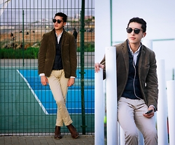 Spoke STYLE - Mcgregor Mcg Blazer, Zara Gilet, Marc By Jacobs Pants - Suit Separates - Brown Suit Jacket