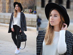 Claudia Villanueva - Asos Hat, Zara Sweater, Rosegal Jacket, Zara Pants, Asos Bag, Superga Sneakers - Supergas