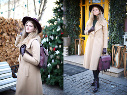 Margarita Lemeshko - Asos Knitted Dress, Asos Coat, Steve Madden Boots, 3.1 Phillip Lim Backpack - Warm Winter with ASOS